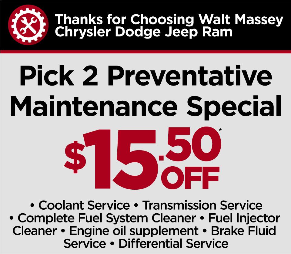 Any Quick Service 10% Off at Walt Massey CDJR