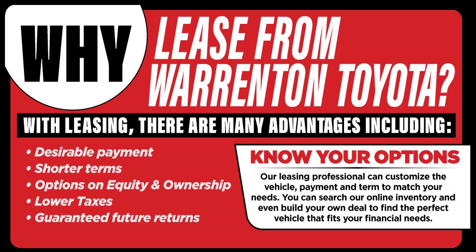 Why Lease at Warrenton,VA