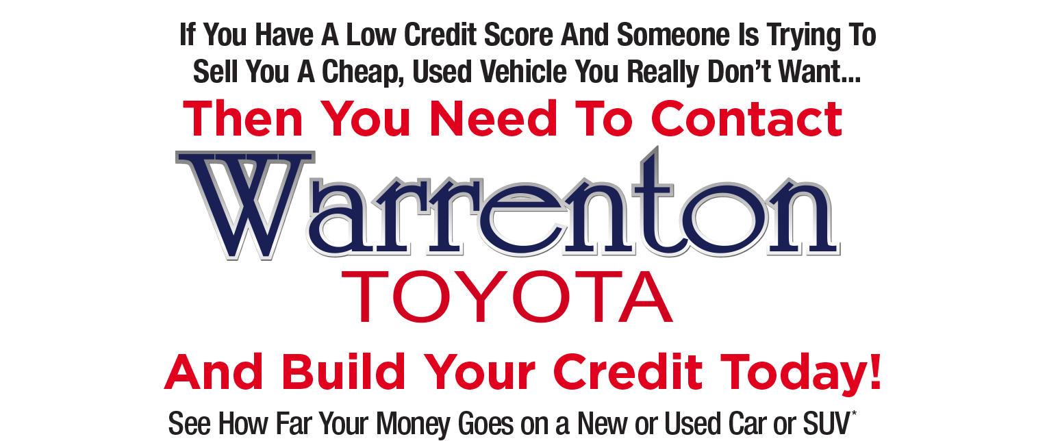 Build Your Credit with Warrenton Toyota