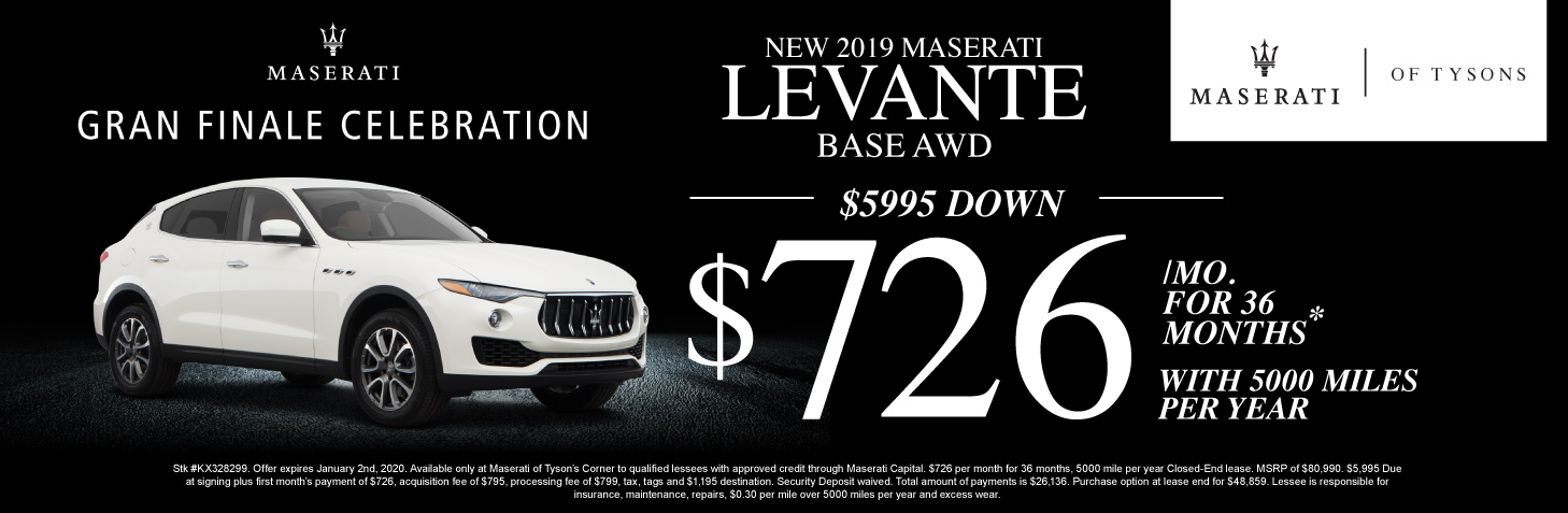 levante lease special | maserati of tysons in vienna, va