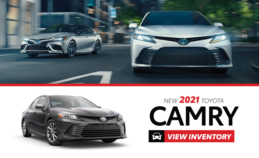 New 2021 Toyota Camry - Act Now - $1,250 customer cash on hybrids or $1,000 customer gas on gas models